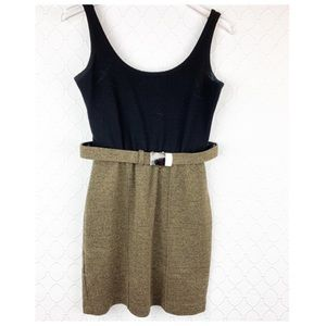 Cache Tweed Belted Dress 0/2